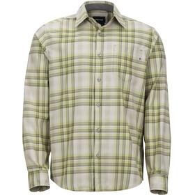 Marmot Zephyr - Camiseta de manga larga Hombre - beige/verde